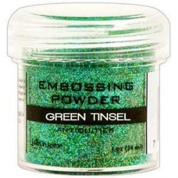 Green Tinsel Embossing Powder Ranger