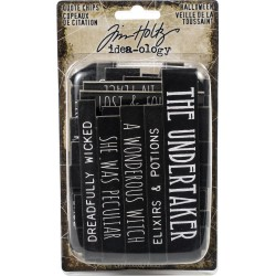 Halloween Chipboard Quote Chips Words & Phrases Idea-ology by Tim Holtz