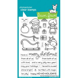 "Ho-Ho-Holidays Clear stamps 4""x6"" Lawn Fawn"