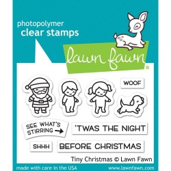 "Tiny Christmas Clear Stamps 3""x2"" Lawn Fawn"
