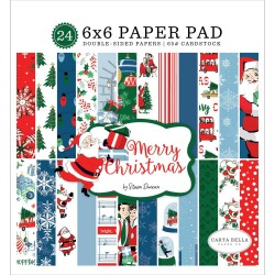 "Merry Christmas Paper Pad 6""x6"" Carta Bella"