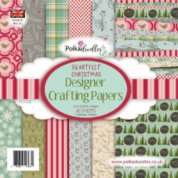 Heartfelt Christmas Designer Crafting Papers 21x21 cm Polka Doodles