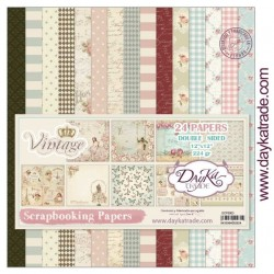 "Vintage Scrapbooking Papers 12"" x 12"" DayKa Trade"