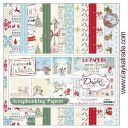 "Me Incanta La Navidad Scrapbooking Papers 12"" x 12"" DayKa Trade"