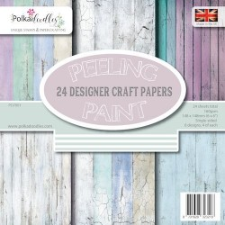 "Peeling Paint Designer Crafting Papers 6""x6"" Polka Doodles"