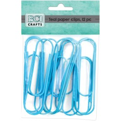 Teal Jumbo Paper Clips