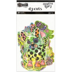 Colored Animals Dyan Reaveley's Dylusions Creative Dyary Die Cuts