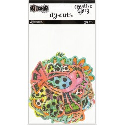 Colored Birds & Flowers Dyan Reaveley's Dylusions Creative Dyary Die Cuts