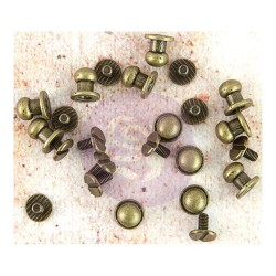 Metal Knobs Memory Hardware Embellishments Prima Marketing