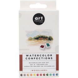 Woodlands Watercolor Pans 12 Pkg Prima Watercolor Confections Prima Marketing