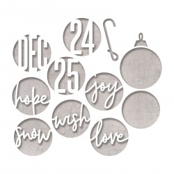 Circle Words Christmas Thinlits Dies By Tim Holtz Sizzix