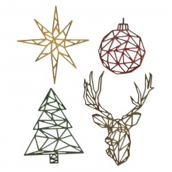 Geo Christmas Thinlits Dies By Tim Holtz Sizzix