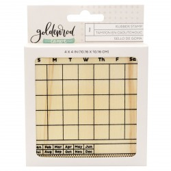 Calendar Rubber Stamp American Crafts