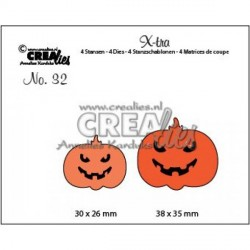 Creepy Pumpkins Die no.32 CreaLies Set Cutting Die n.32 Crealies