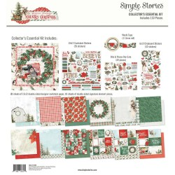 "Simple Vintage Country Christmas Collector's Essential Kit 12""x12 Simple Stories"
