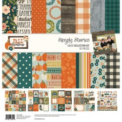 "Fall Farmhouse Collection Kit 12""x12 Simple Stories"