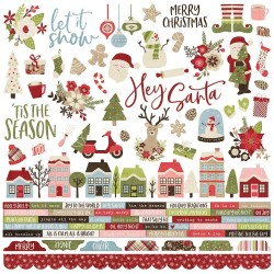 "Holly Jolly Combo Cardstock Stickers 12""x12 Simple Stories"