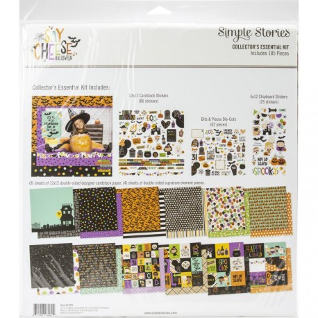 """Say Cheese Halloween Collector's Essential Kit 12""""x12 Simple Stories"""