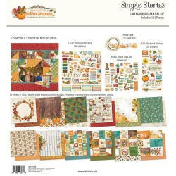 "Simple Vintage Autumn Splendor Collector's Essential Kit 12""x12 Simple Stories"