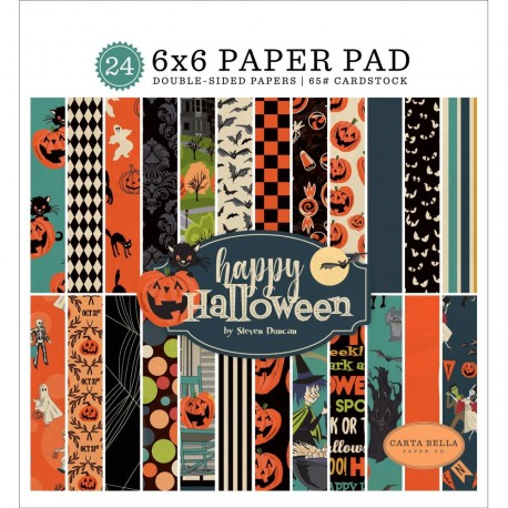 "Happy Halloween Paper Pad 6""x6"" Carta Bella"