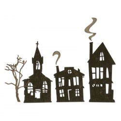 Ghost Town Thinlits Dies By Tim Holtz Sizzix