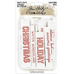 Christmas Chipboard Quote Chips Words & Phrases Idea-ology by Tim Holtz
