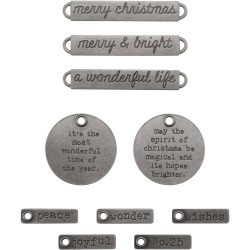 Christmas Words Adornaments Idea-ology by Tim Holtz