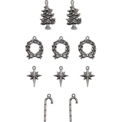 Antique Nickel Yuletide Christmas Adornaments Idea-ology by Tim Holtz