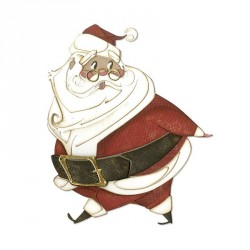Jolly St. Nick Thinlits Dies By Tim Holtz Sizzix