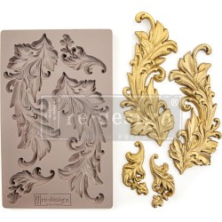 Baroque Swirls Re-Design Decor Mould Prima Marketing