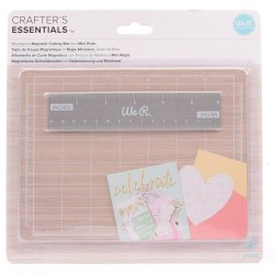 Crafters Mini Magnetic Mat & Ruler We R Memory Keepers