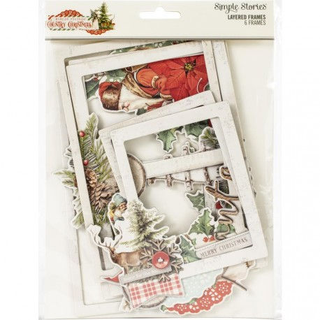 Simple Vintage Country Christmas Layered Frame Simple Stories