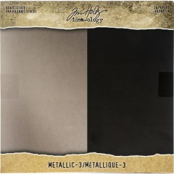 "Kraft Metallic Paper Pad 8""X8"" 36 Pkg Idea-Ology by Tim Holtz"