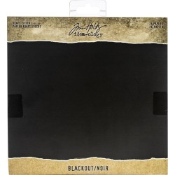 "Blackout Paper Pad 8""X8"" 36 Pkg Idea-Ology by Tim Holtz"