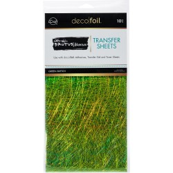 Green Sketch Transfer Sheets Deco Foil