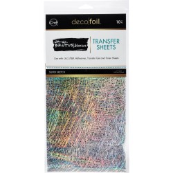 Silver Sketch Transfer Sheets Deco Foil