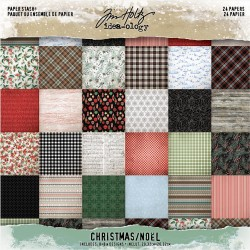 "Christmas Paper Stash 8""x8"" Tim Holtz"