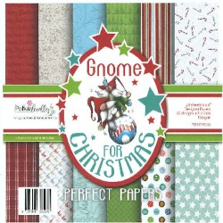 "Gnome for Christmas Designer Crafting Paper 6""x6"" Polka Doodles"