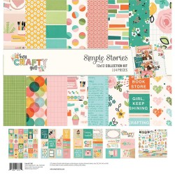 "Hey, Crafty Girl Collection Kit 12""x12 Simple Stories"