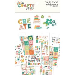 Hey, Crafty Girl Mini Sticker Tablet Simple Stories