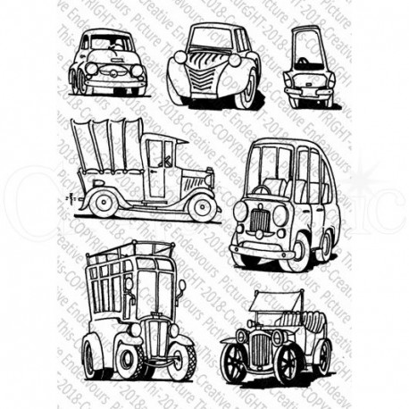 Little Vehicles Set di Timbri Picture This Creative Endeavours