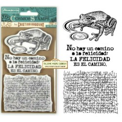 Cosmos Frog Timbri Rubber Stamps Stamperia