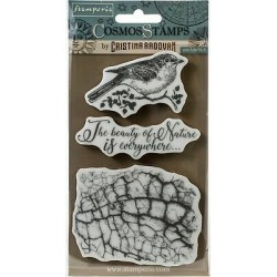 Cosmos Bird Timbri Rubber Stamps Stamperia