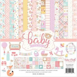 "Hello Baby It's a Girl 12""x12"" Collection Kit Echo Park"