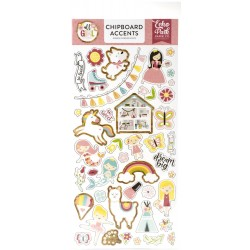 "All Girl 6""x12"" Adhesive Chipboard Accents Echo Park"