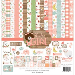 "Baby Girl 12""x12"" Collection Kit Echo Park"