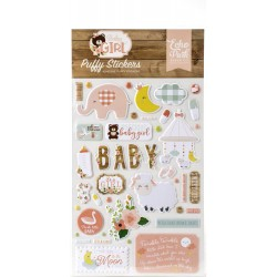Baby Girl Adhesive Puffy Stickers Echo Park