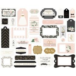 Wedding Day Frames & Tags Die Cut Cardstock Pieces Echo Park