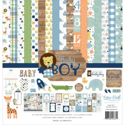 "Baby Boy 12""x12"" Collection Kit Echo Park"