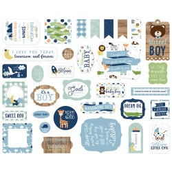 Baby Boy Ephemera Die Cut Cardstock Pieces Echo Park